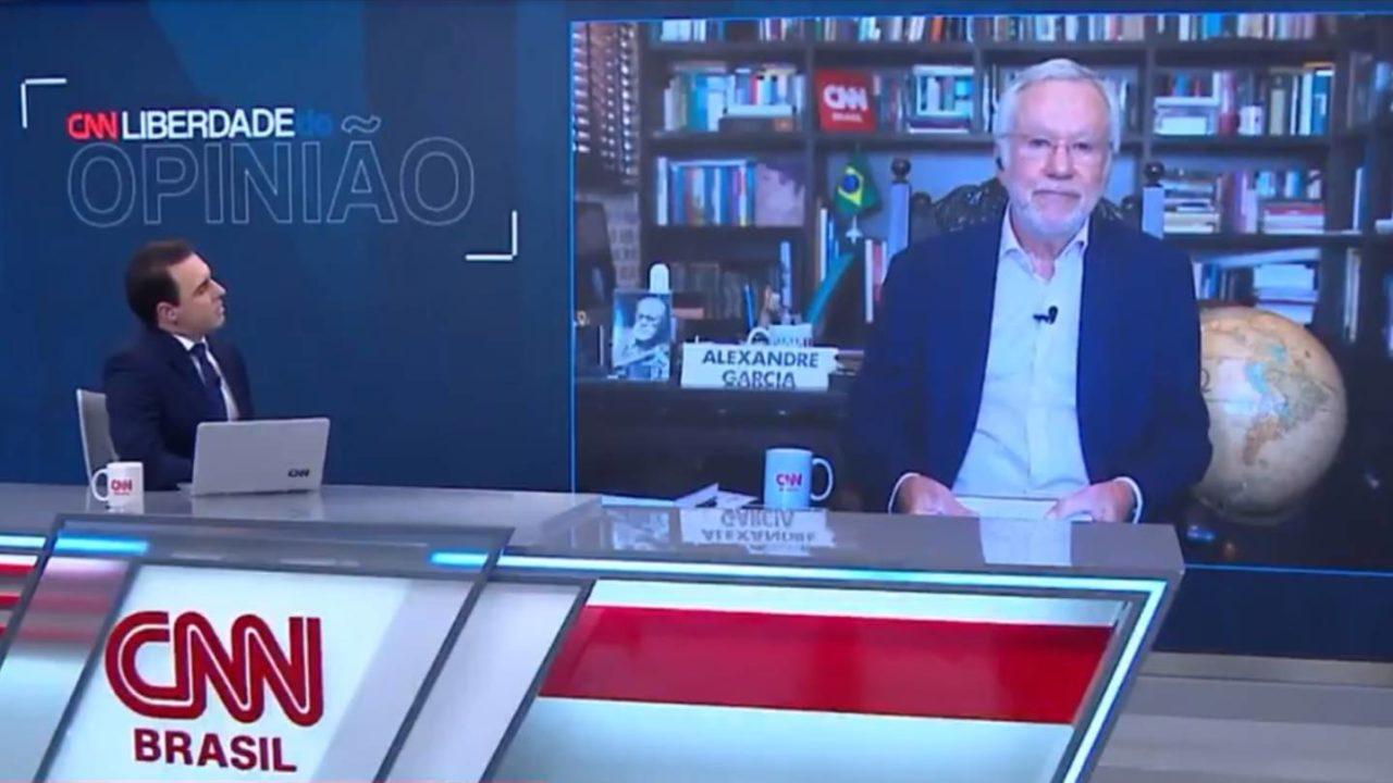VÍDEO: Alexandre Garcia se desentende com apresentador e ameaça deixar CNN Brasil